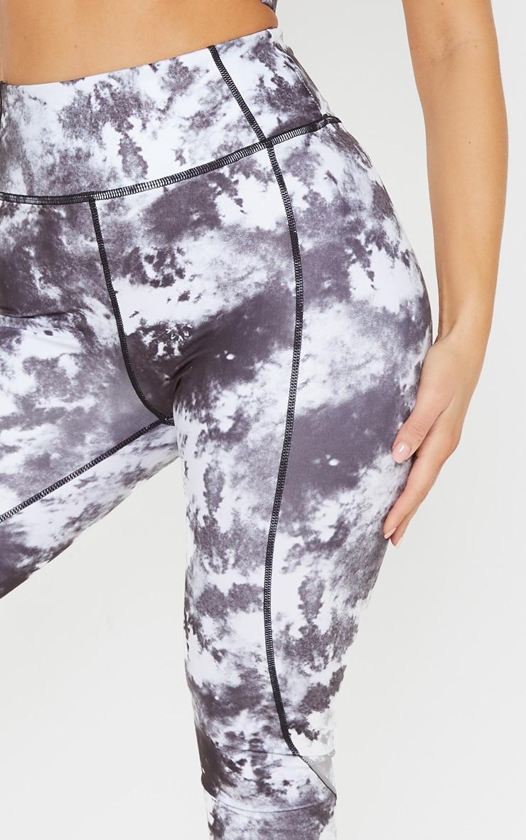 Black Tie Dye Acid High Rise Gym Legging 5