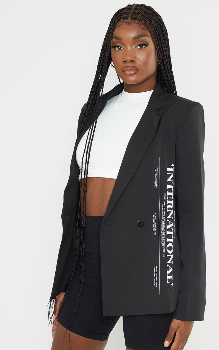 Tall Black International Blazer 3