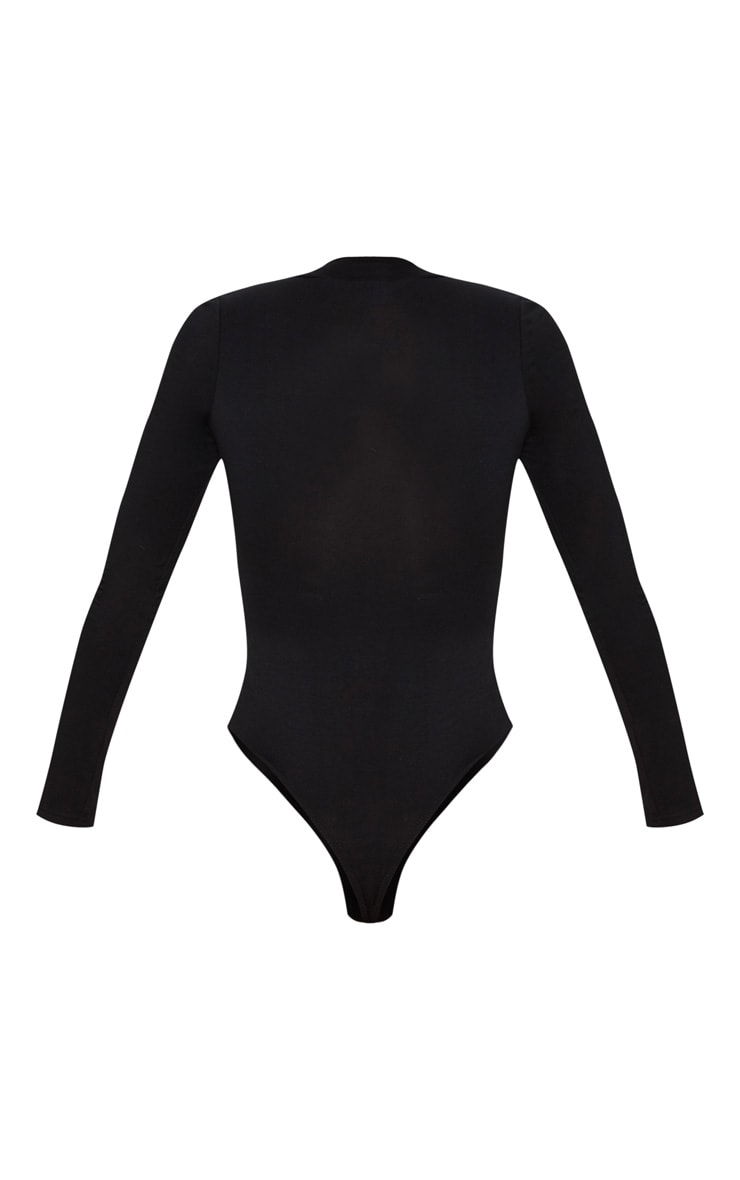 PRETTYLITTLETHING Black Long Sleeve Bodysuit 4