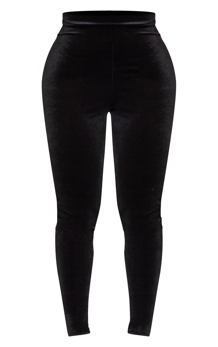 Shape Black Velvet High Waisted Pants 3