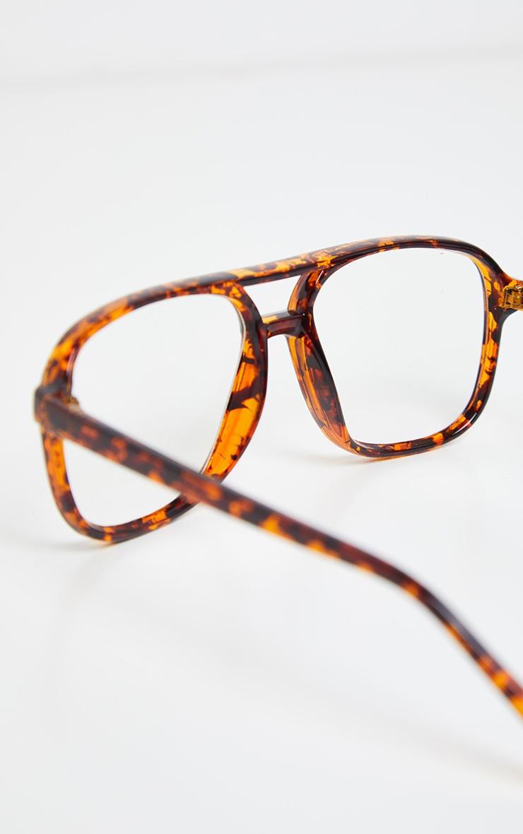 Tortoiseshell Retro Aviator Reader Glasses 2
