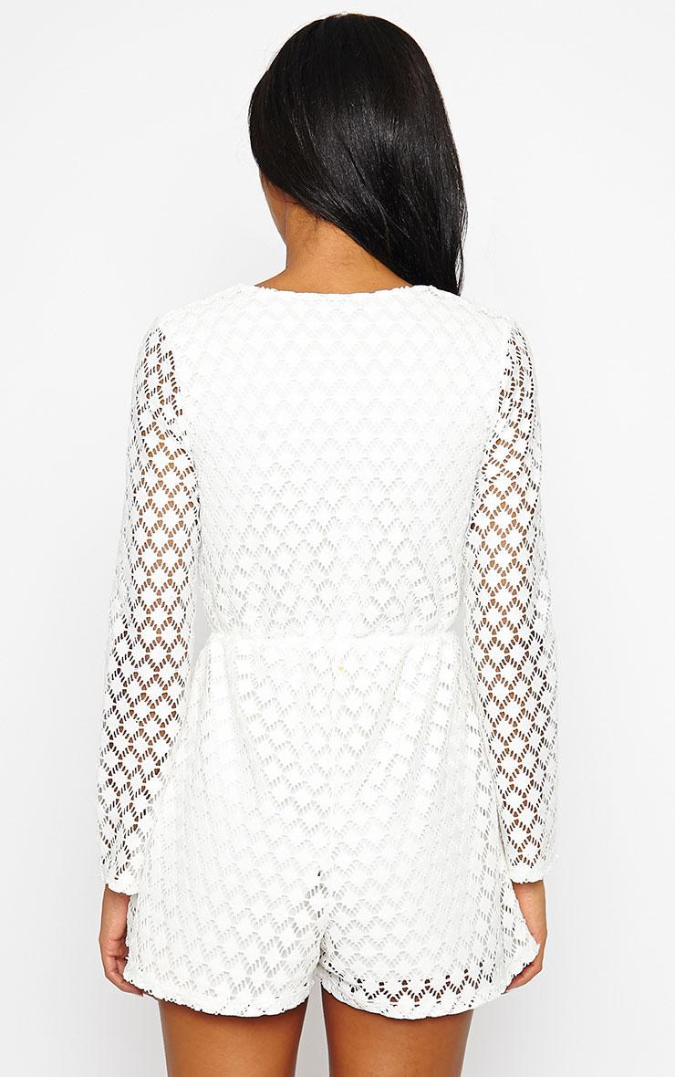 Naomi Cream Crochet Playsuit 2
