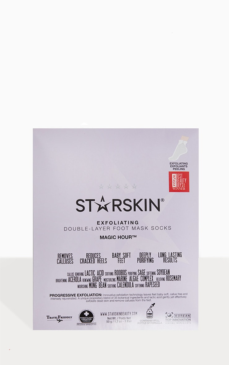 Starskin Magic Hour Exfoliating Double Layer Foot Mask Socks 1