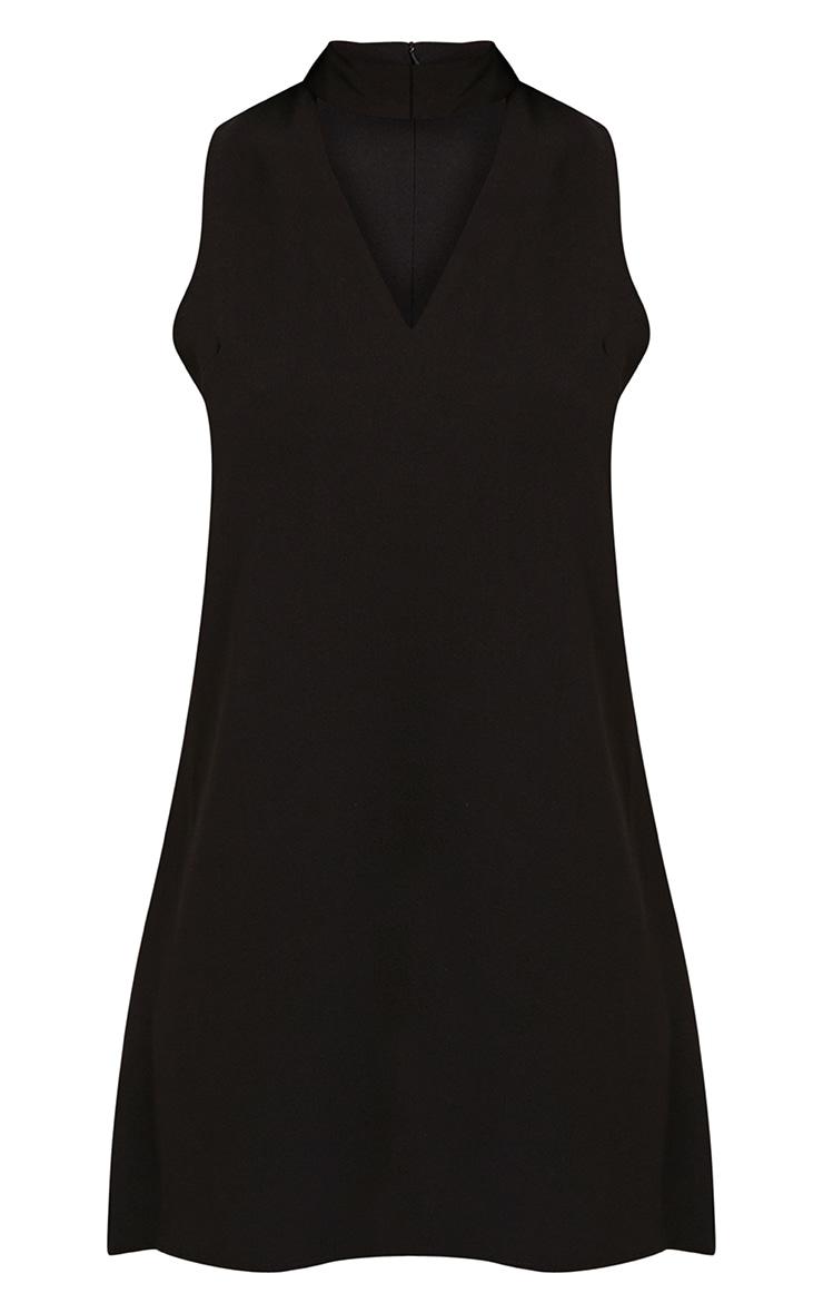 Cinder Black Choker Detail Loose Fit Dress 3