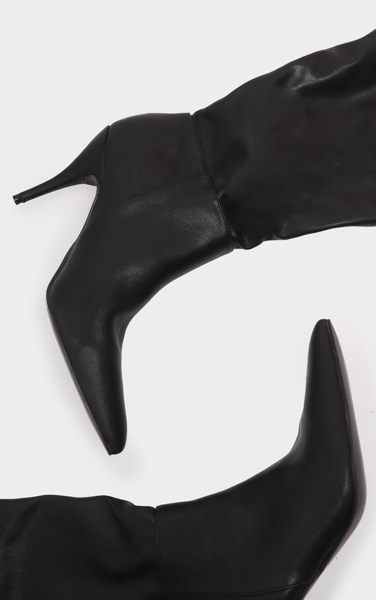 Black Mid Heel Knee Boot 3