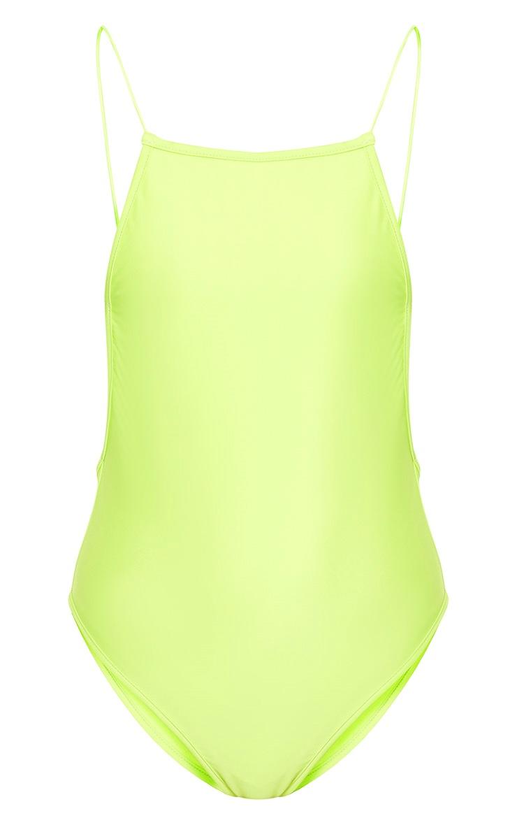 Green 90's Neck Strap Detail Swimsuit 3