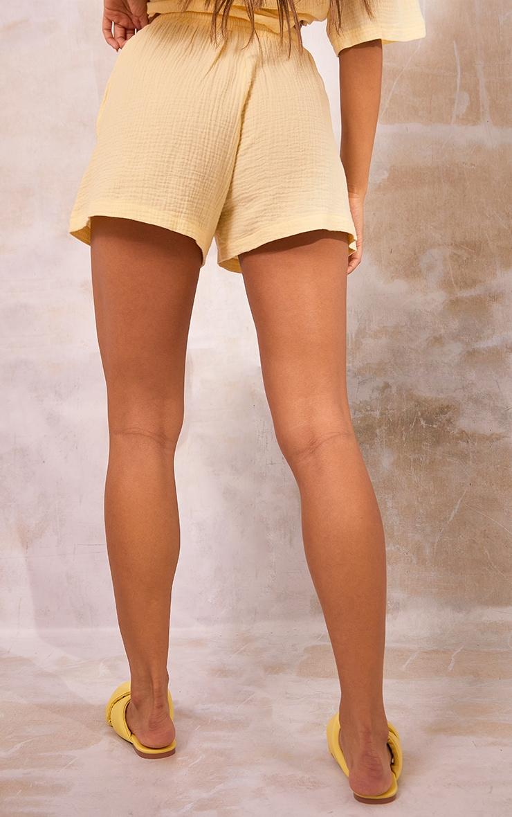Pastel Yellow Woven Floaty Shorts 3
