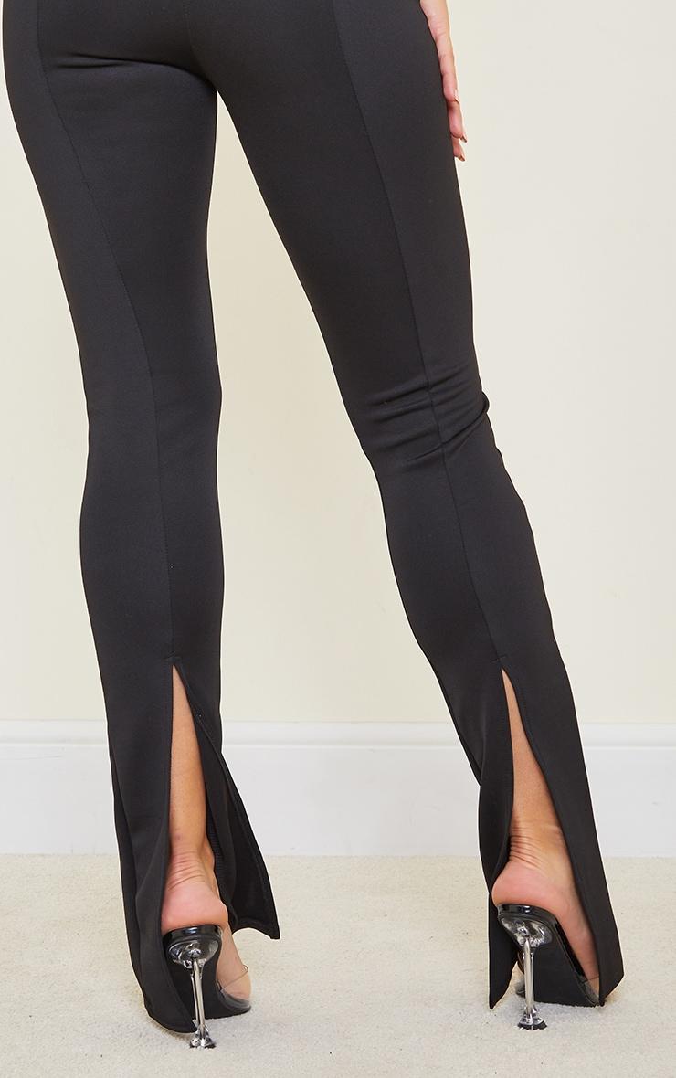 Tall Black Back Split Hem Pants 4