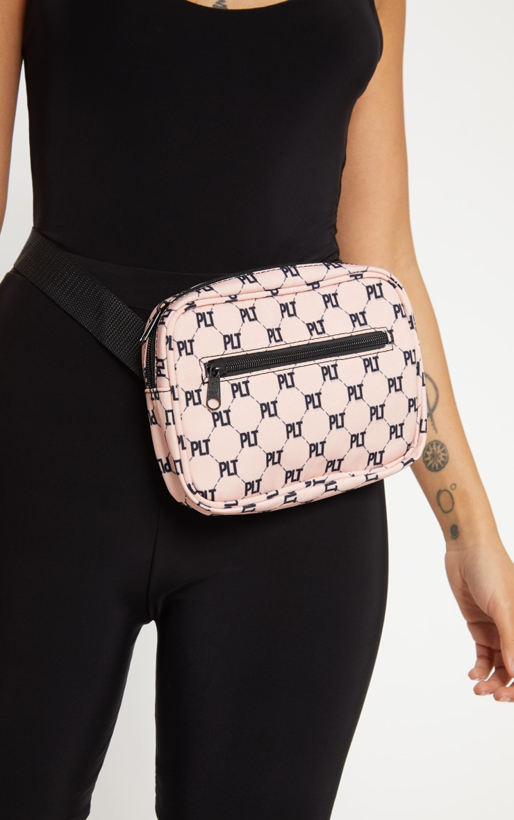 PRETTYLITTLETHING Pink Logo Bum Bag 3