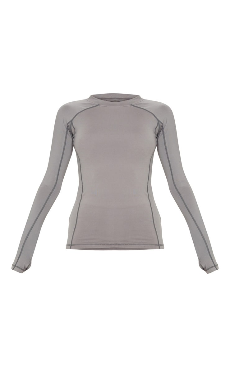 Charcoal Long Sleeved Gym Top 3