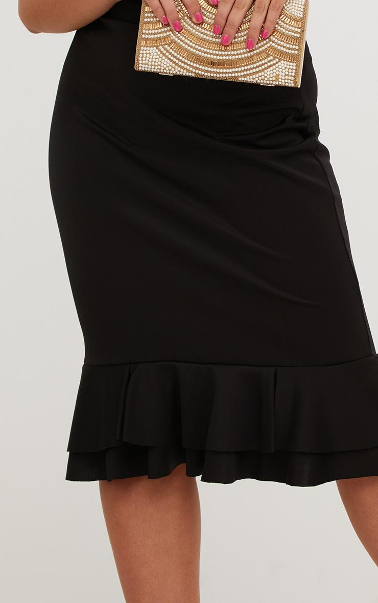 Plus Black Frill Hem Midaxi Skirt 5