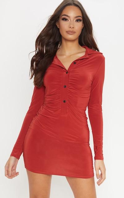fb14e7cd2553f Robe chemise   Robes chemisier femme   PrettyLittleThing FR