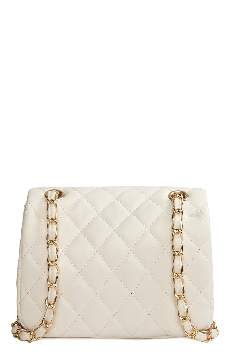 Corena White Quilted Bag 5