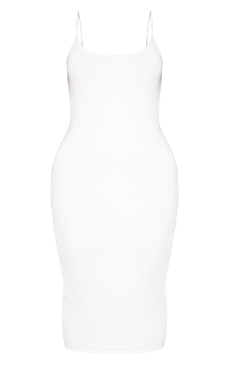 Shape White Slinky Strappy Open Back Midi Dress 3