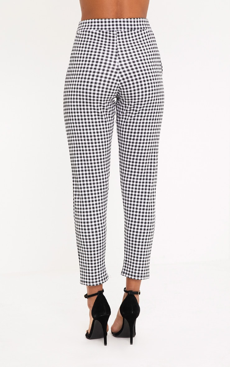 Sage Black Gingham Trousers 4