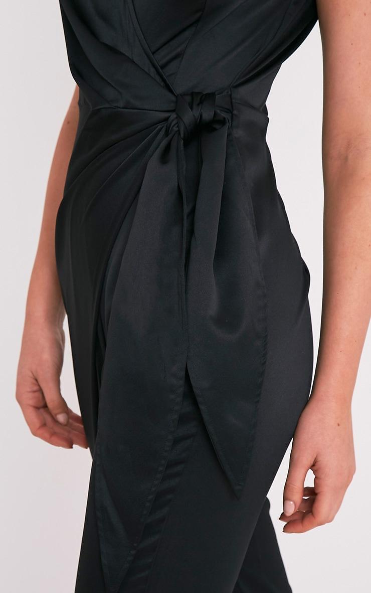 44cebaaebd8 Carla Black Tie Side Choker Detail Satin Jumpsuit - Jumpsuits ...