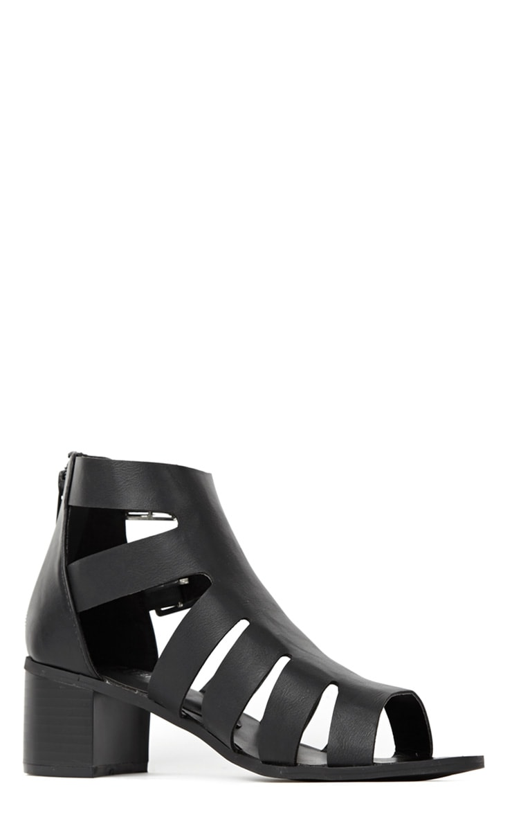 Juliana Black Block Heel Sandal  3