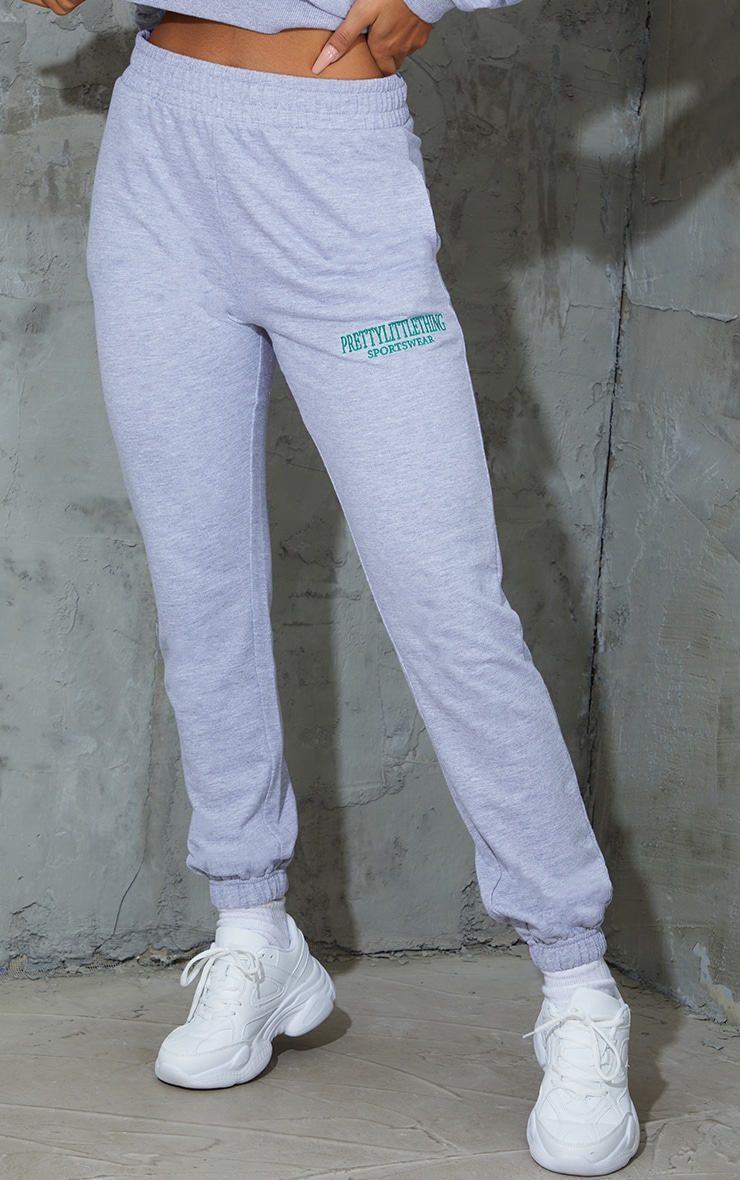 Grey Sports Embroidered Joggers 2