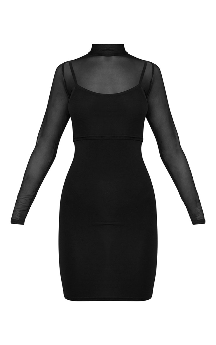 2 Pack Mesh Top And Bodycon Dress 3