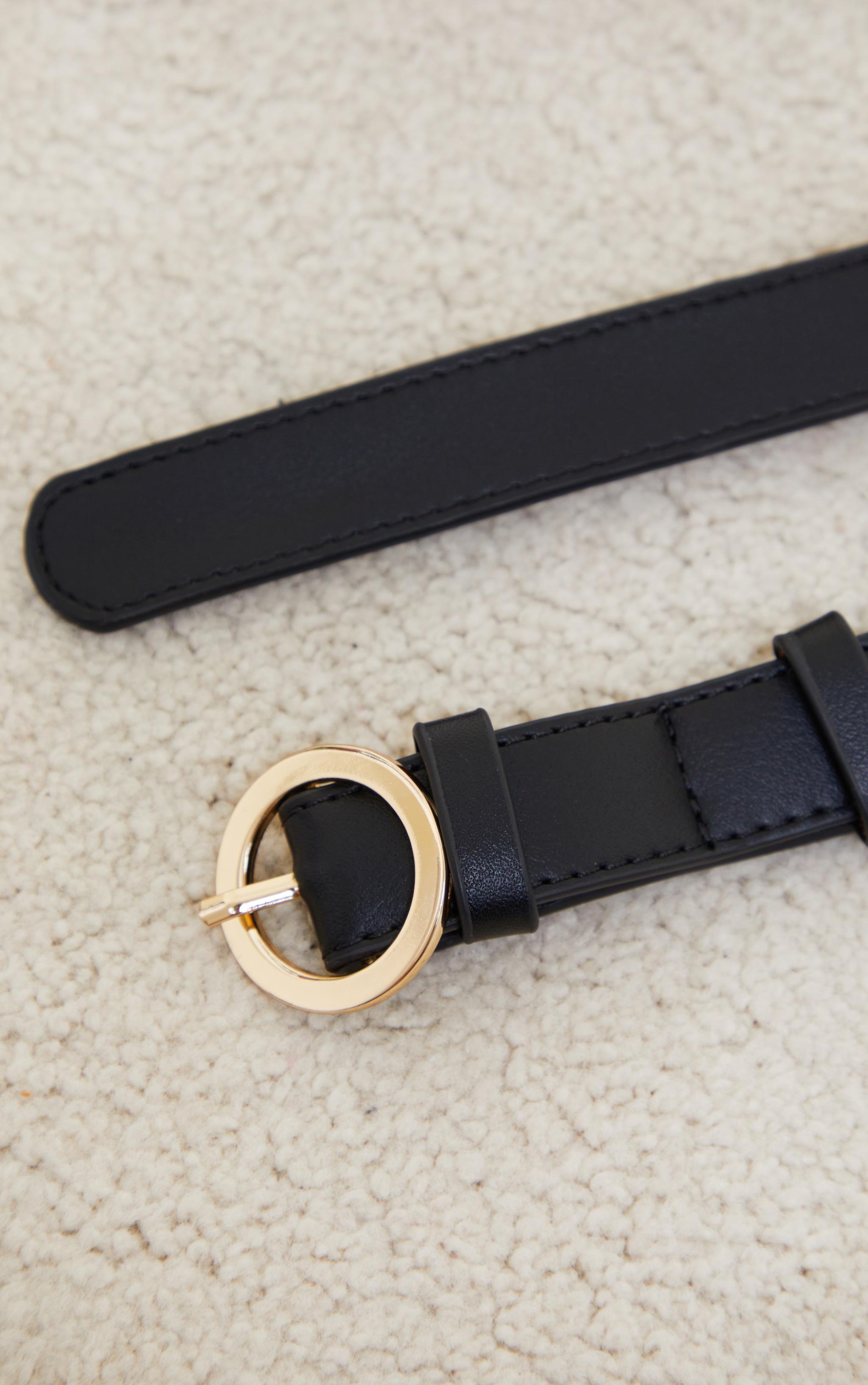 Black Multi Pocket Bag Belt 4