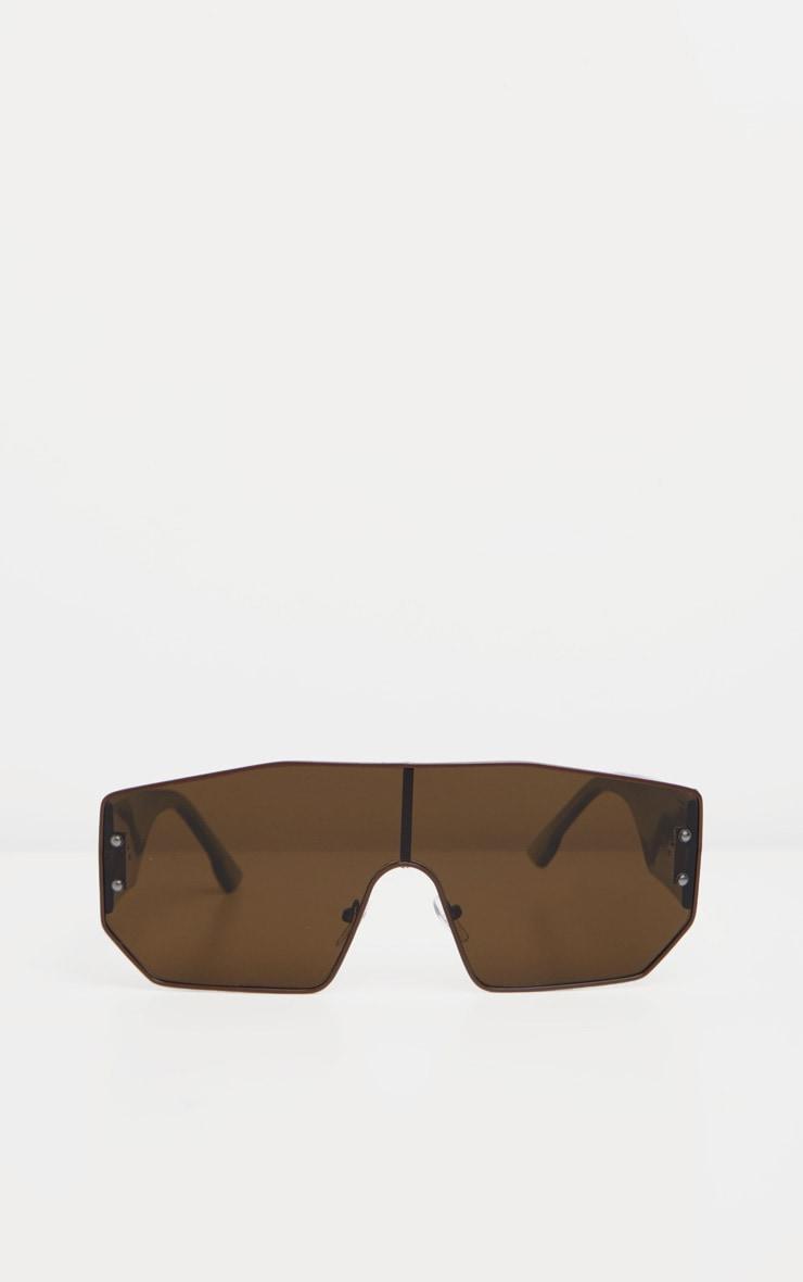 Khaki Tonal Visor Sunglasses 2