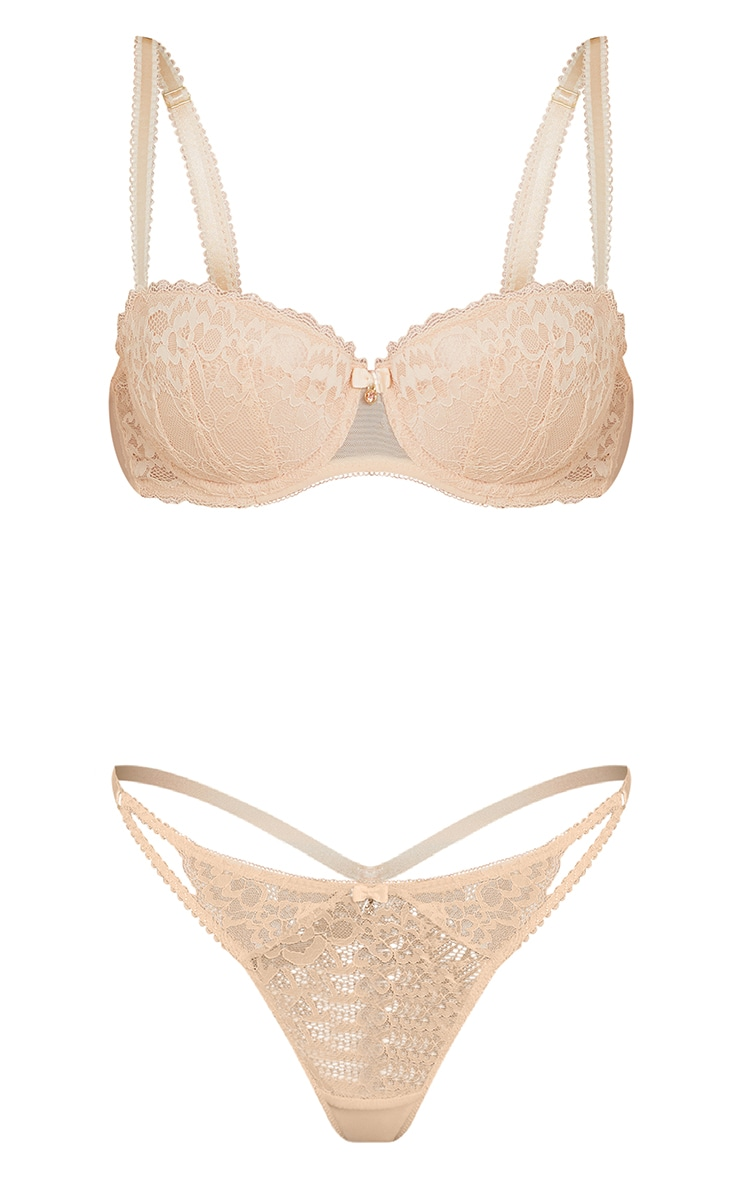 Nude Ann Summers Sexy Lace Plunge Bra 5
