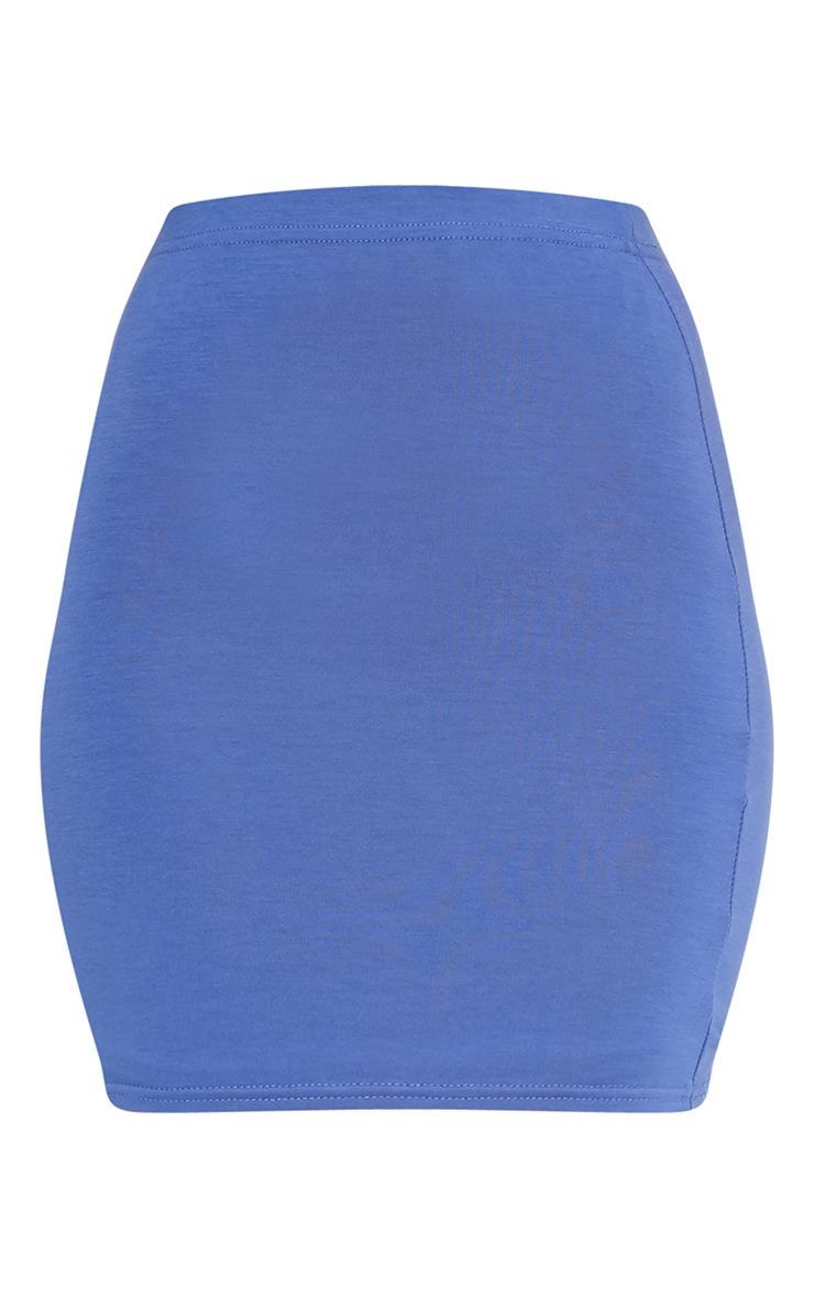 Basic Blue Jersey Mini Skirt 3