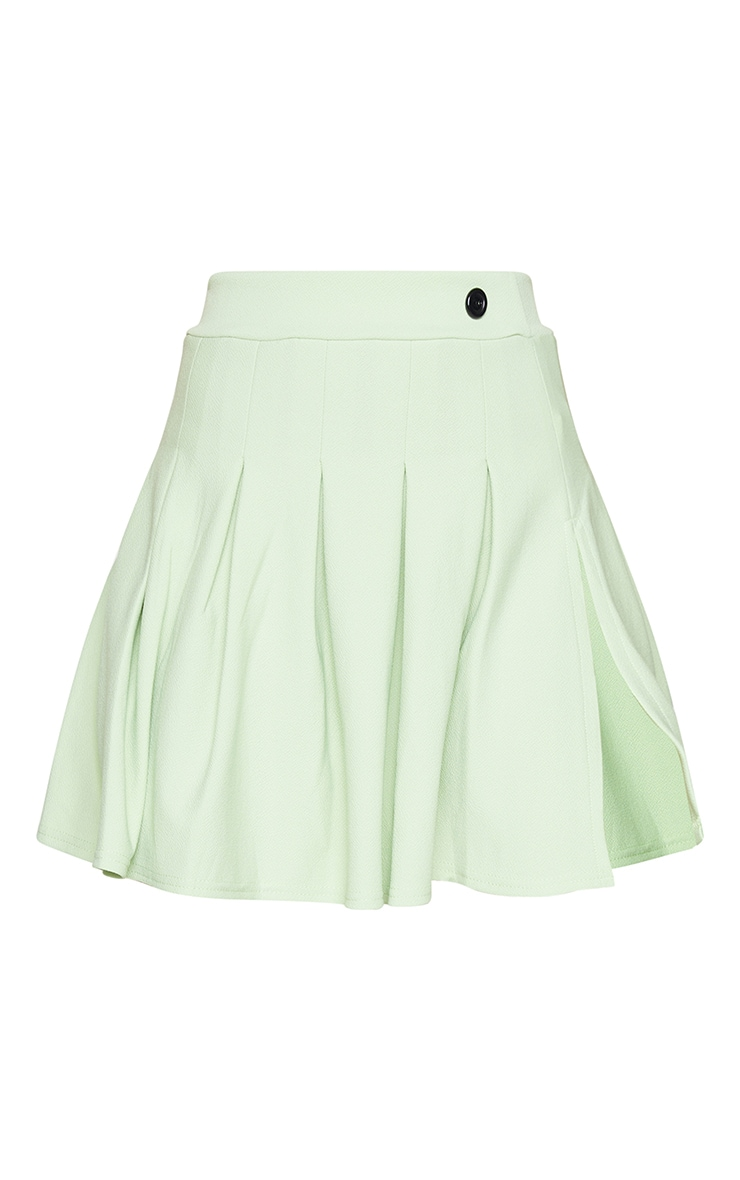 Sage Green Pleated Side Split Tennis Skirt 6