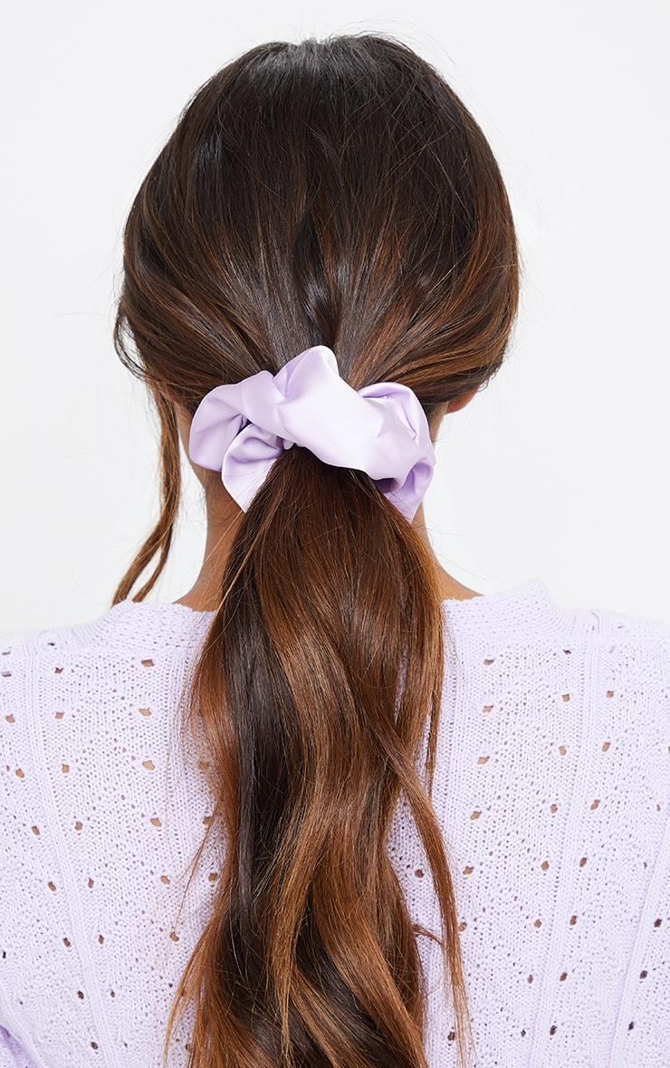 Lilac Satin Scrunchie 2
