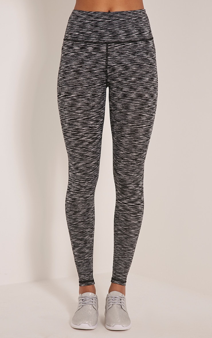 Kaylie leggings sport chiné gris 2