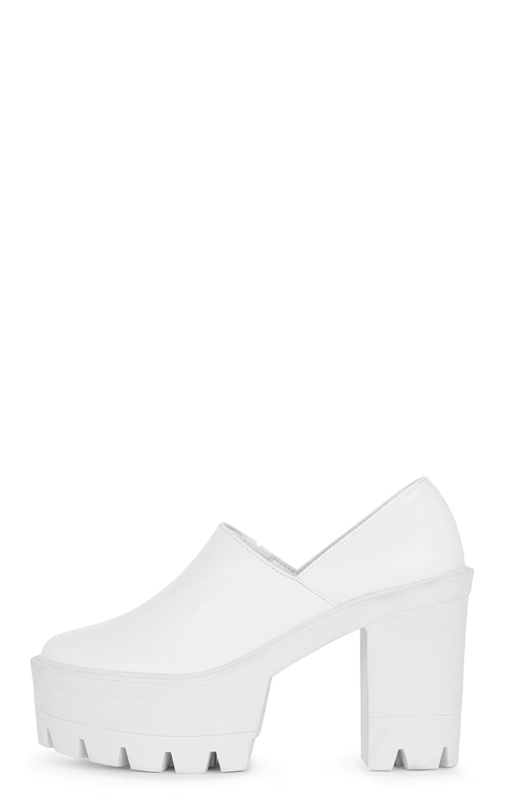 Blair White Slip on Chunky Shoe 1