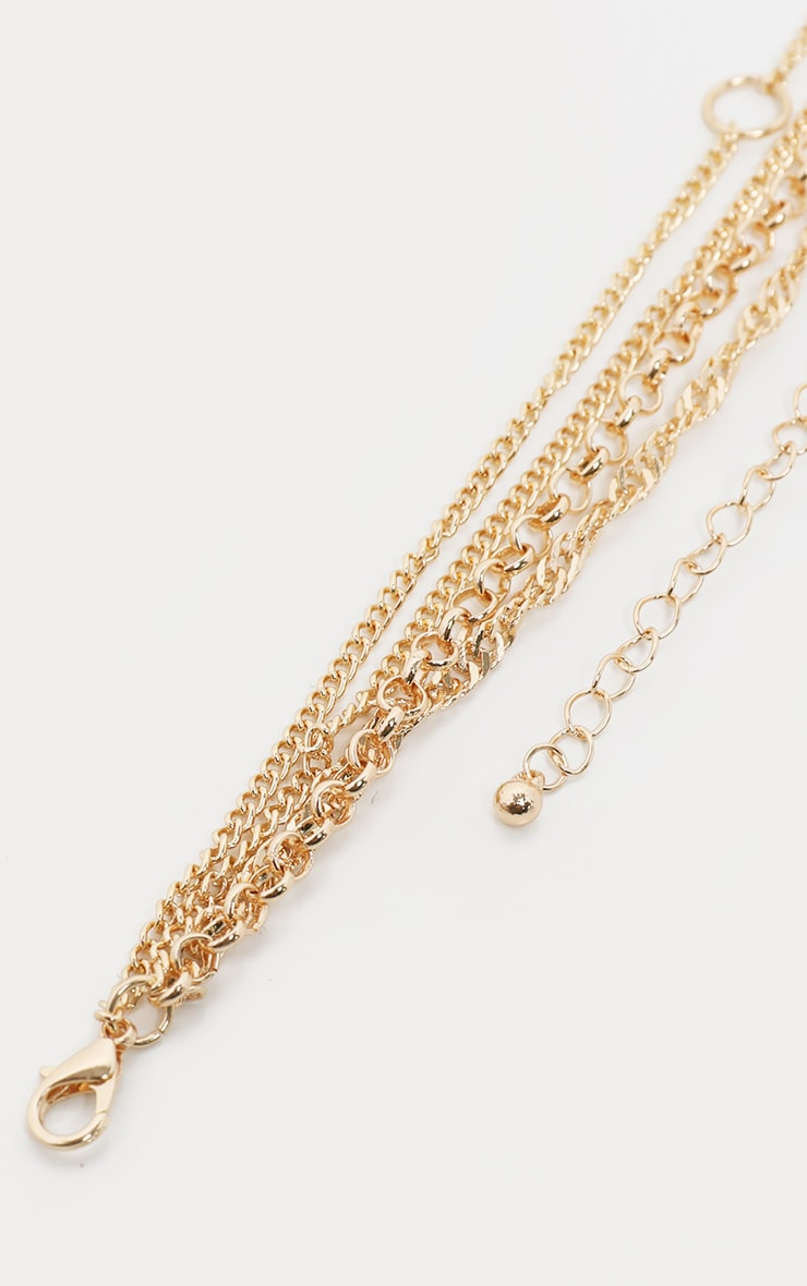 Gold Multi Layer Charm Necklace 4