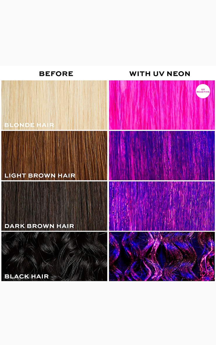 I Heart Revolution UV Neon Pink Hair Make Up 4