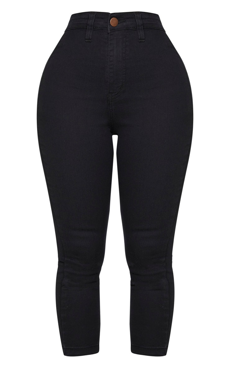Shape Black High Waist Cropped Jeans 5