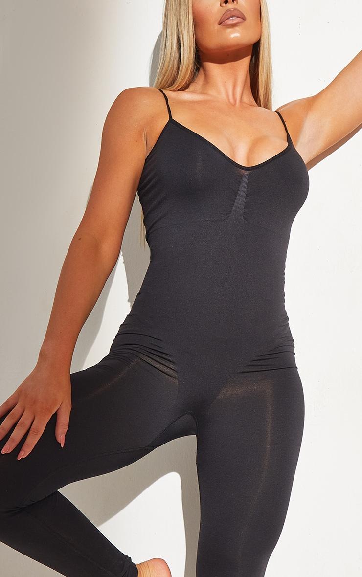 Black Shapewear Control Longline Body 4