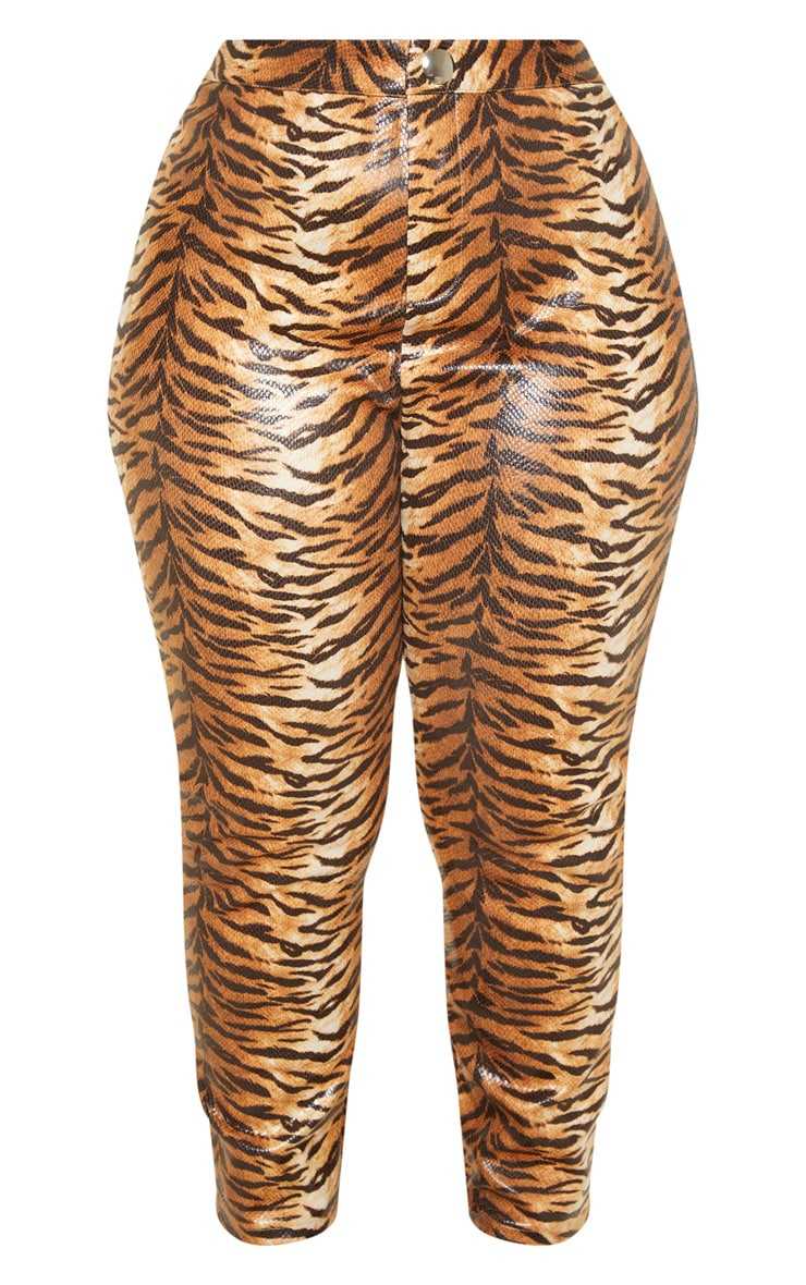 Plus Tiger Print Snake High Waisted Trousers 3