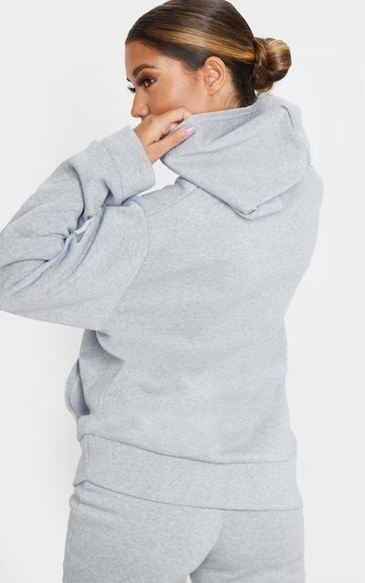Grey Marl Fleece Hoodie