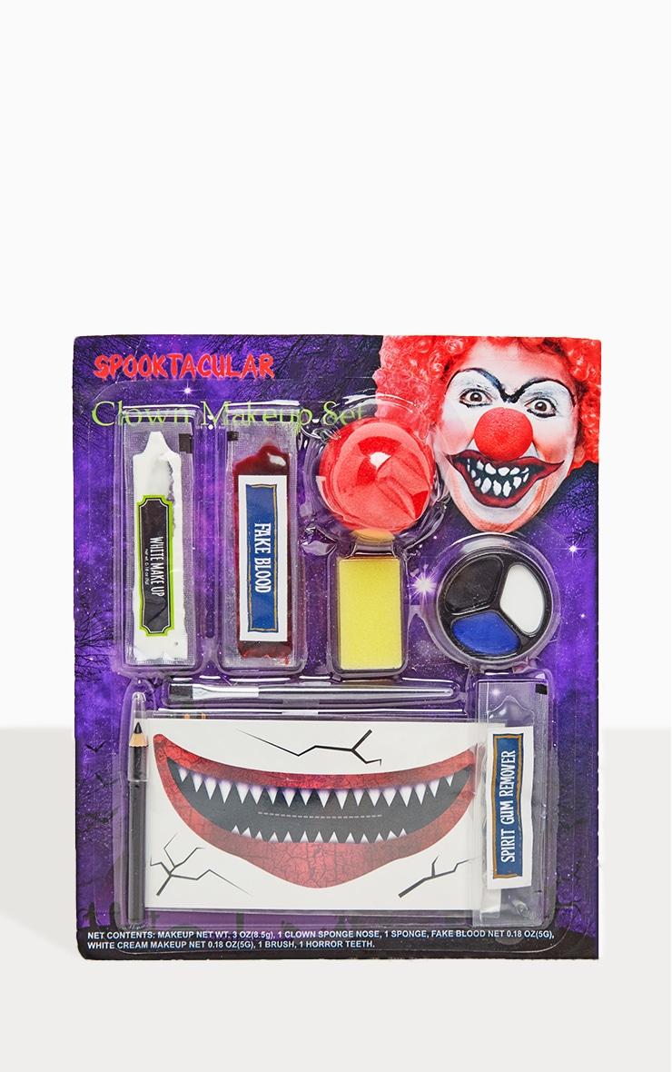 Maquillage d'Halloween clown maléfique 1