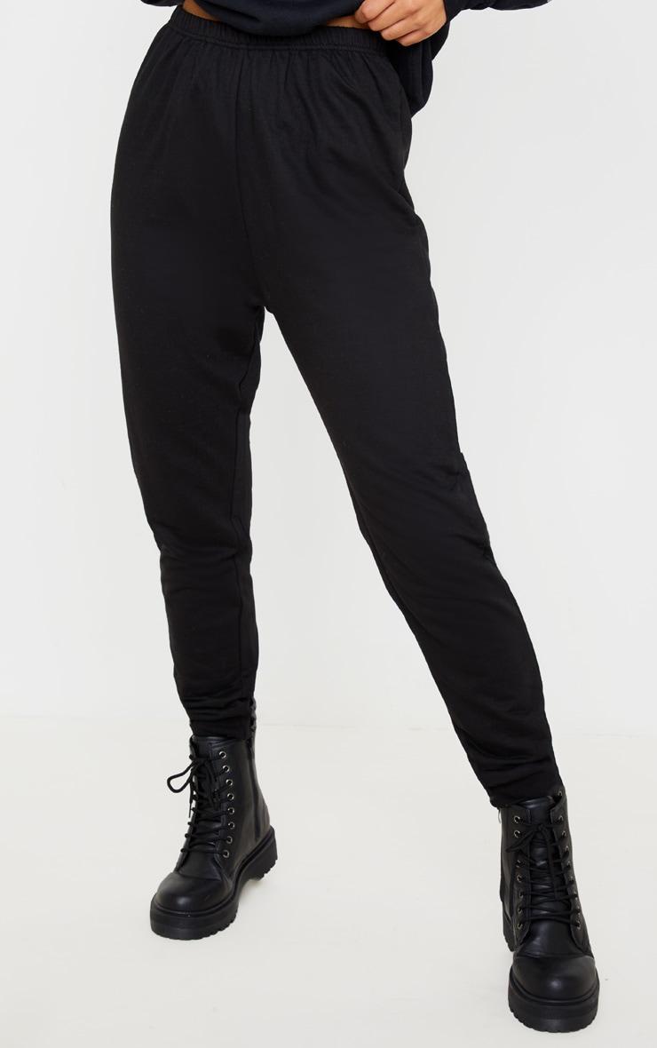 Jogging skinny noir profond 2