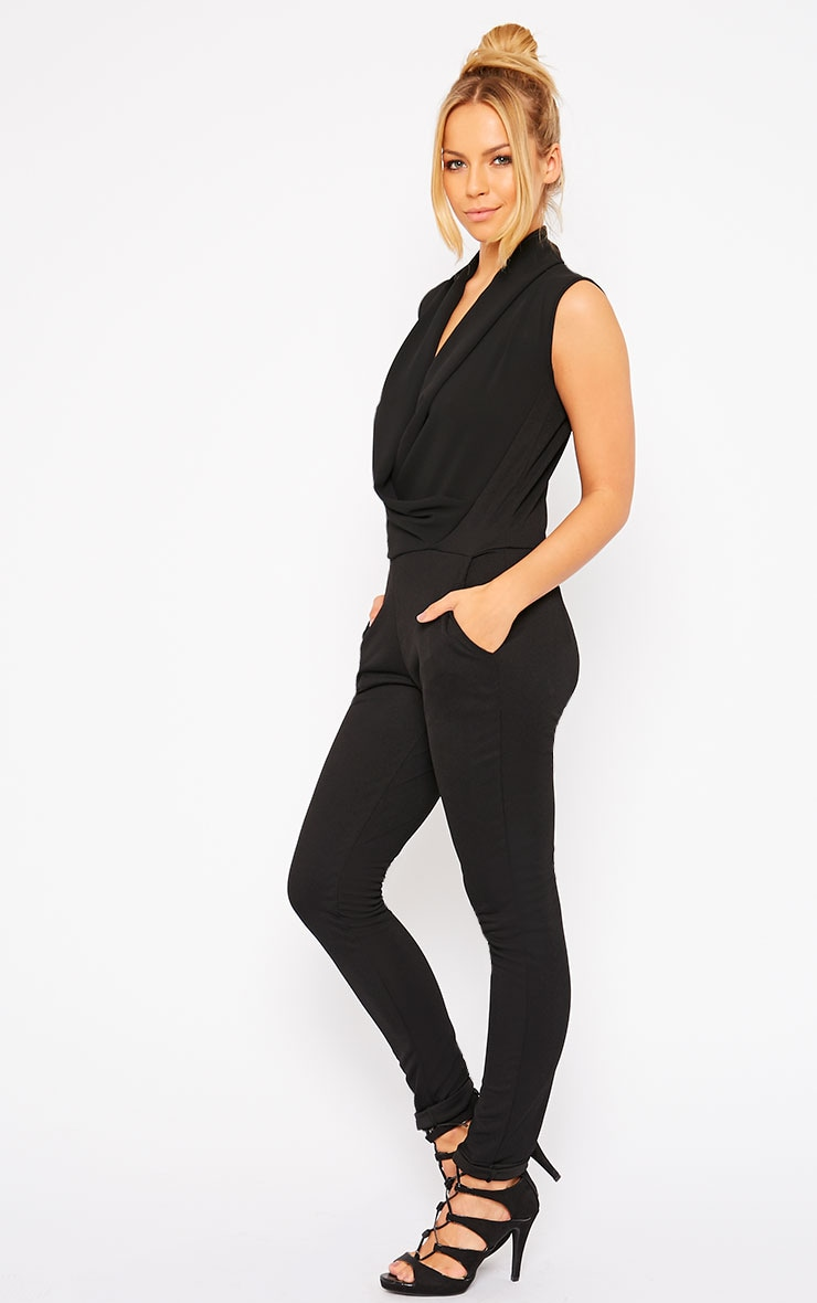 Julia Black Cowl Neck Jumpsuit 4
