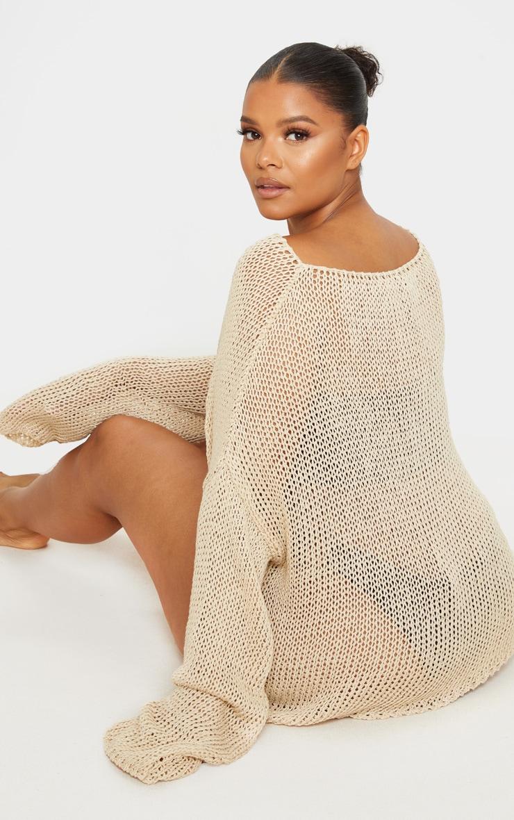 Plus Stone Fisherman Knit Sweater 2