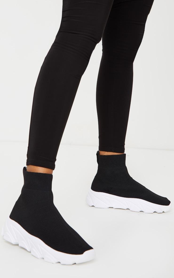 Black Sock Chunky Sneakers 2