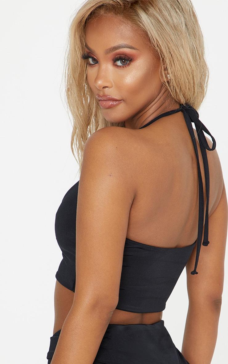 Shape Black Halterneck Bikini Top 2
