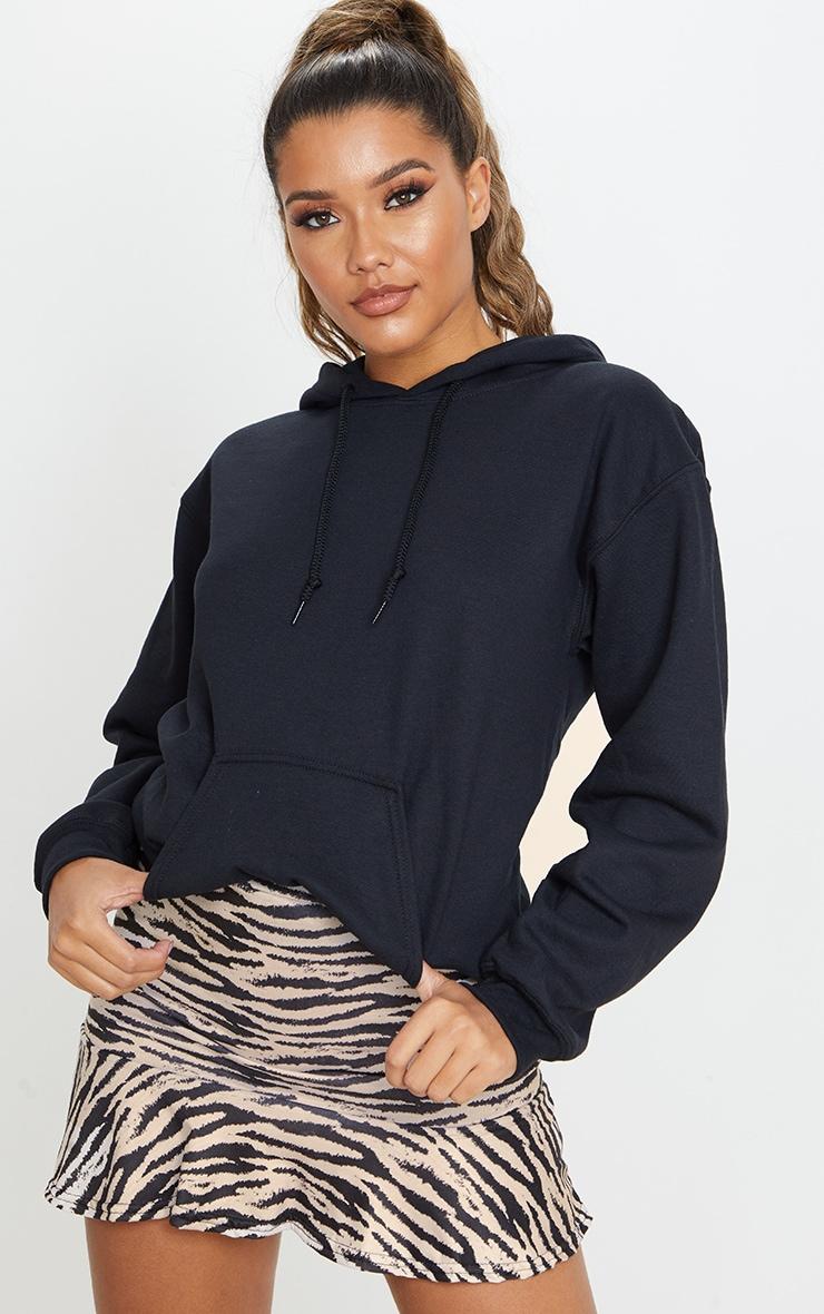 Stone Zebra Print Flippy Hem Mini Skirt 1