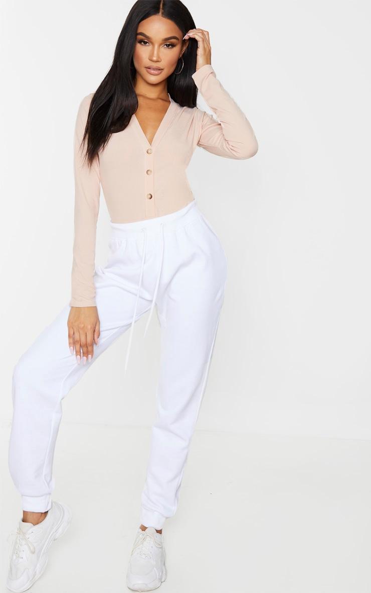 Blush Long Sleeve Button Detail Bodysuit 4