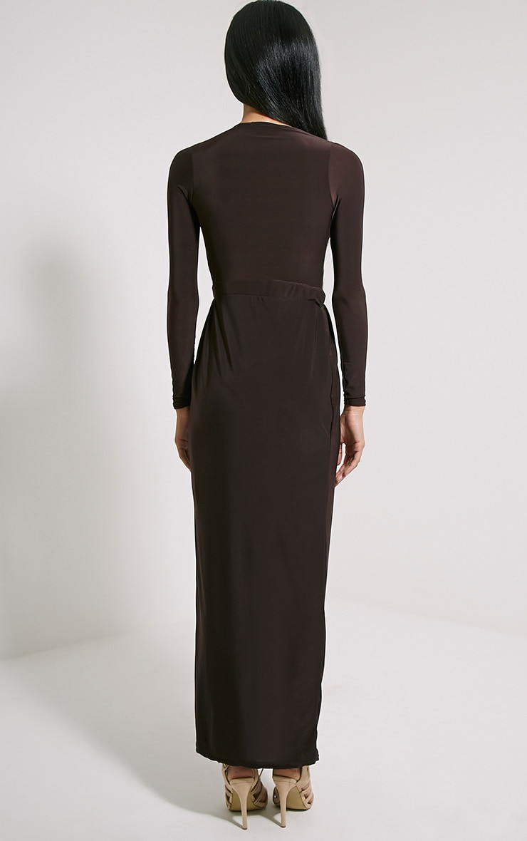 Bex Chocolate Brown Cut Out Maxi Dress 2