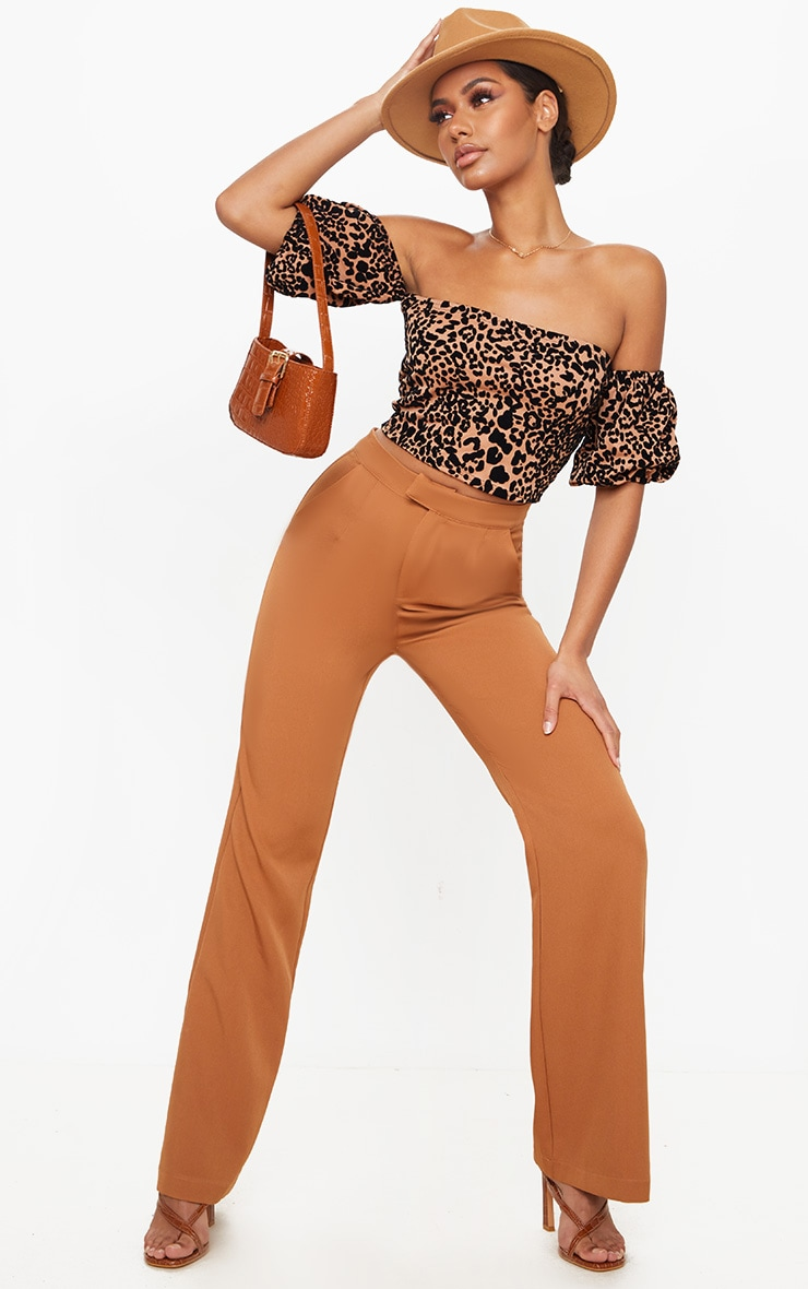 Tan Leopard Bardot Top 3