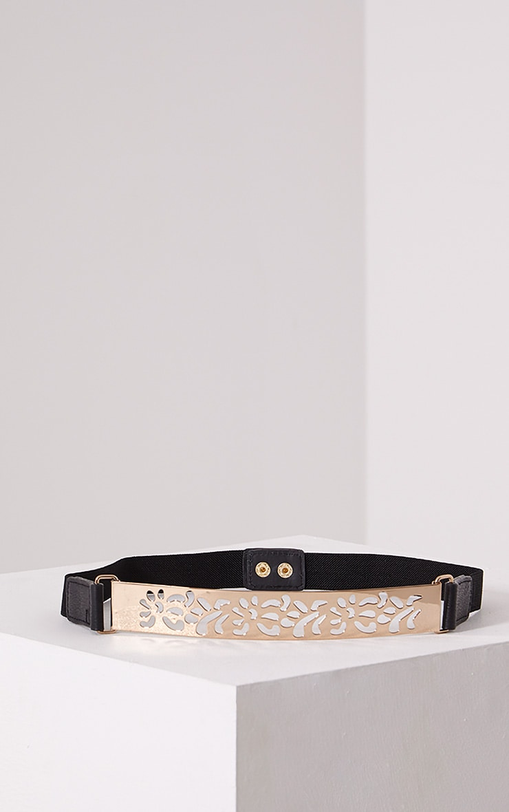 Petra Gold Cut Out Waist Belt 1