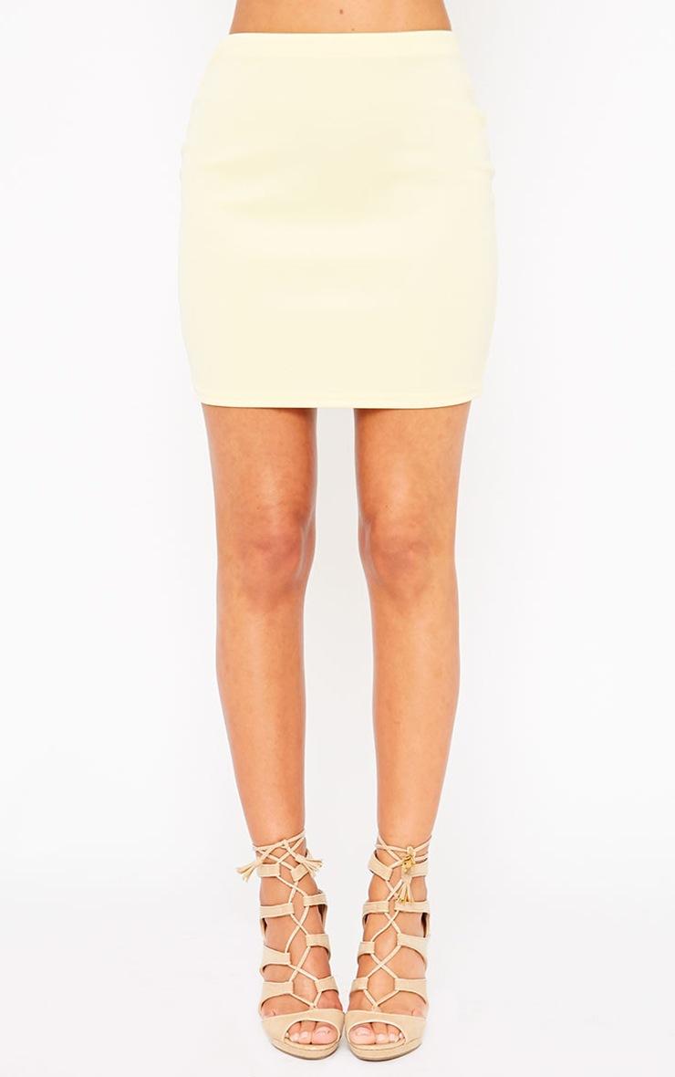 Basic Lemon Scuba Mini Skirt 5