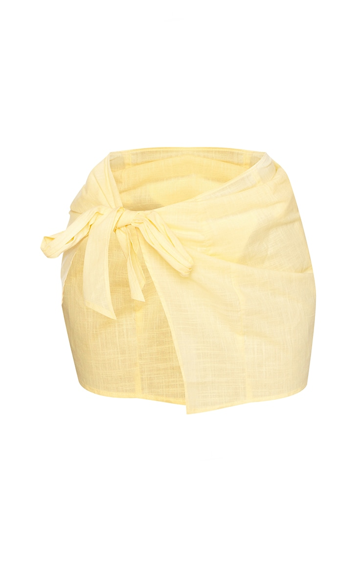 Lemon Mini Cotton Tie Sarong 6